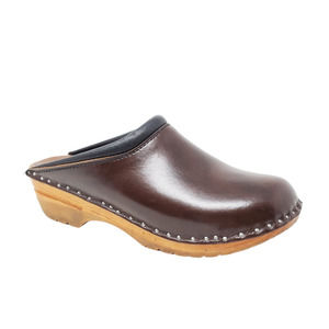 Troentorp Leather Wood Slip On Rembrandt Clogs